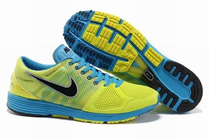 Nike Lunar 5.5 Spider LT +2 Mens Shoes Green Blue