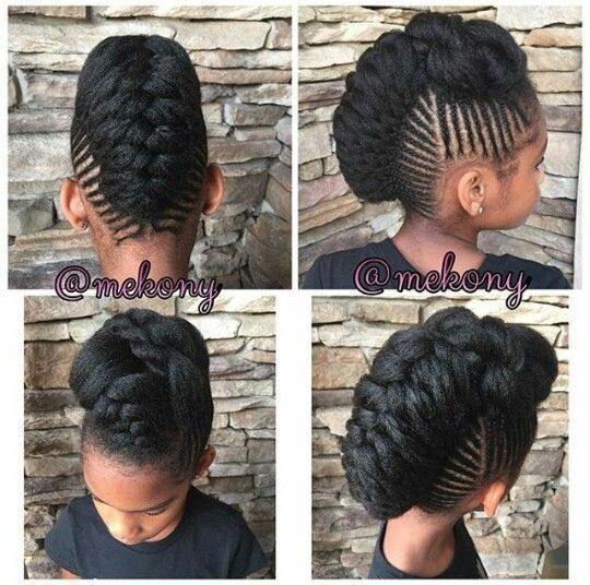 Braided Mohawk Hairstyles Braided Mohawk Hairstyle With Simple Braids  Protective Styles
