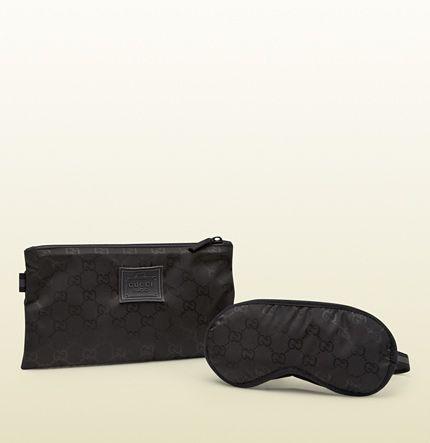 a705d6e499 black GG nylon eye mask from viaggio collection 311515 FJ7FR 8615 ...