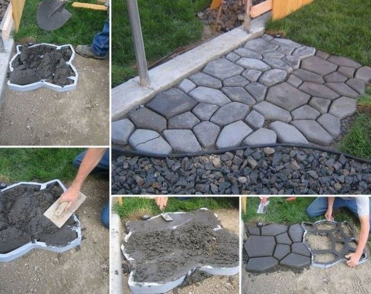 Quikrete Mold Stone Pavement Concrete Diy Building