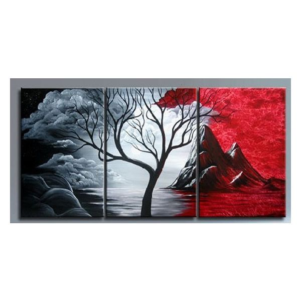"""20/"""" x 16/"""" 100/% Handmade Custom Landscape Painting Hand-Drawn From Your Photo"""