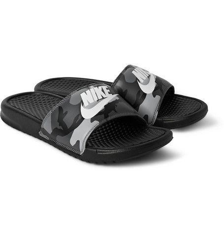 cheap for discount 62ab9 9913c Nike Benassi JDI Camouflage-Print Rubber Slides