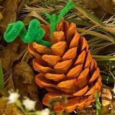 Pine Cone Pumpkin Crafts #pumpkincraftspreschool Pine Cone Pumpkin Crafts are th
