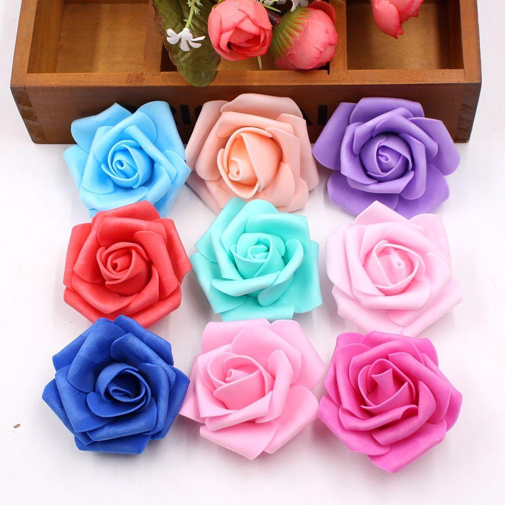 10pcs Lot Cheap 6cm Foam Artificial Rose Flowers Head For Wedding Car Decoration Diy Decorative Rose S Flower Crafts Artificial Flowers Wedding Car Decorations