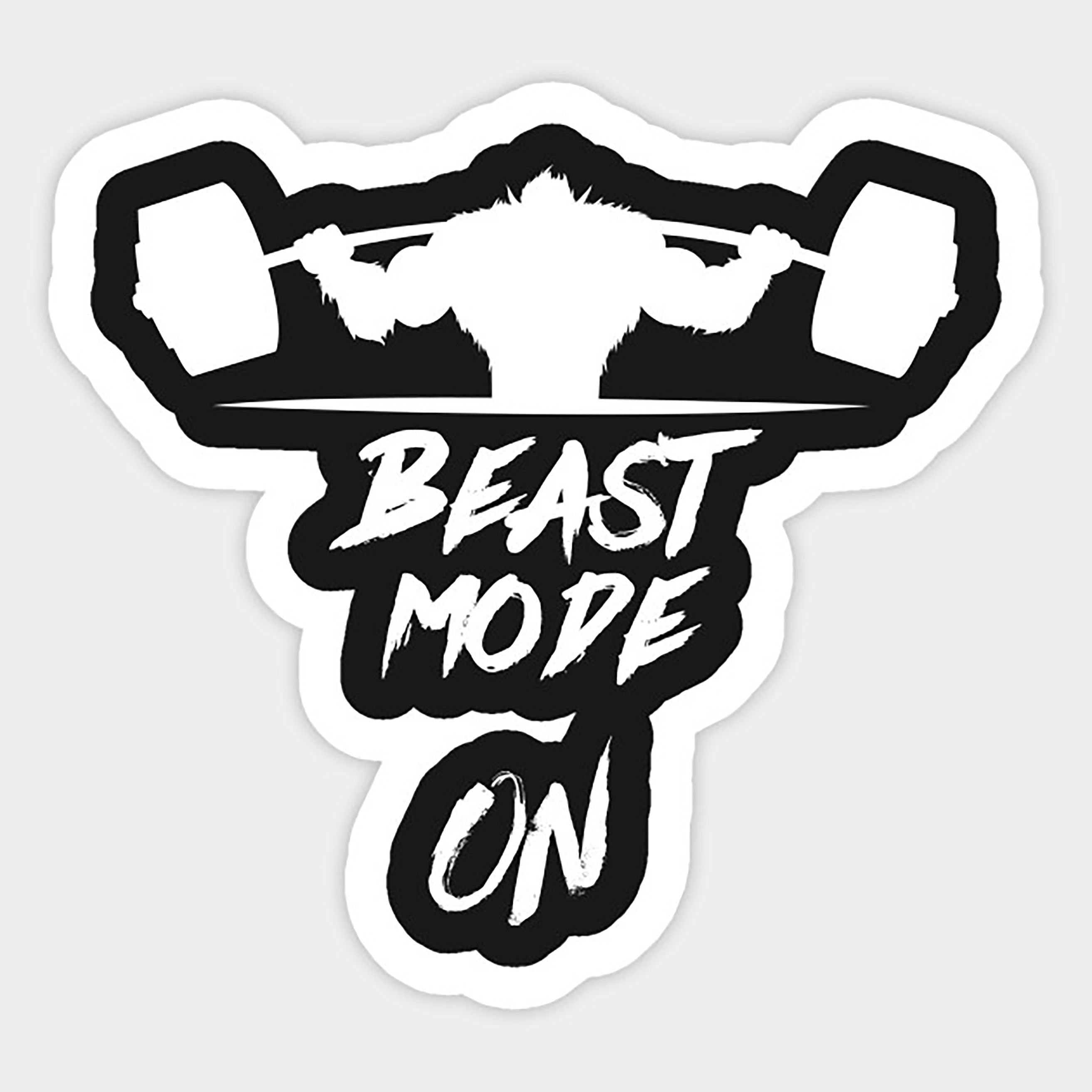 Beast Mode On Inspirational Decals Aesthetic Stickers Stickers [ 2625 x 2625 Pixel ]