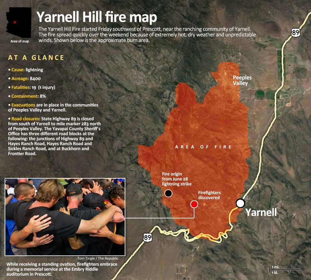 Photos Of The Yanell Az Fire Yarnell Fire Arizona Wildfires