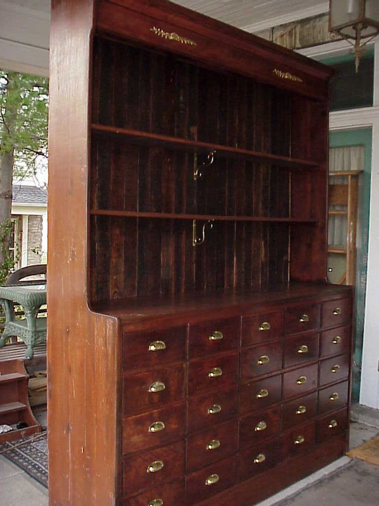 Antique 19c Hardware Store Apothecary Display