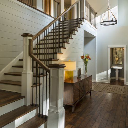 Houzz Home Design Ideas: Best Transitional Staircase Design Ideas & Remodel