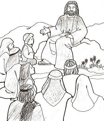 Sermon on the Mount - Coloring Page - SundaySchoolist