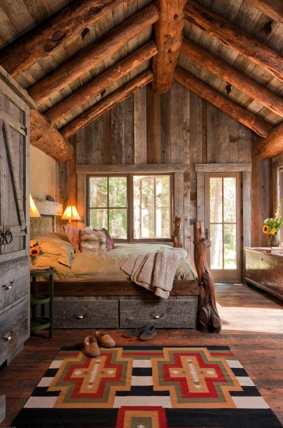 Bon 35+ Gorgeous Log Cabin Style Bedrooms To Make You Drool