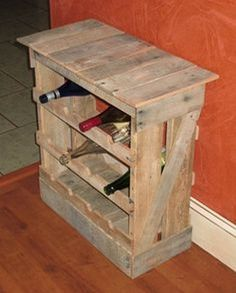Pallet Wine Racks With Glass Holder With Images Pallet Wine