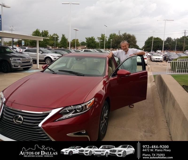 Congratulations Jim on your Lexus ES from John Hernandez