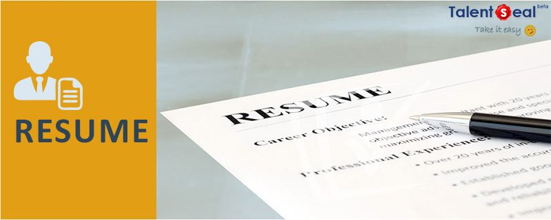 How To Create A Resume? http://bit.ly/1p8n8qp  #TalentSeal: To put it simply,it's a self-advert you put on one or two pages of A4 Size.A resume should aptly list your skills,experience & achievements.It's imperative  that the skills you mention in your resume should match the job profile you are applying for.