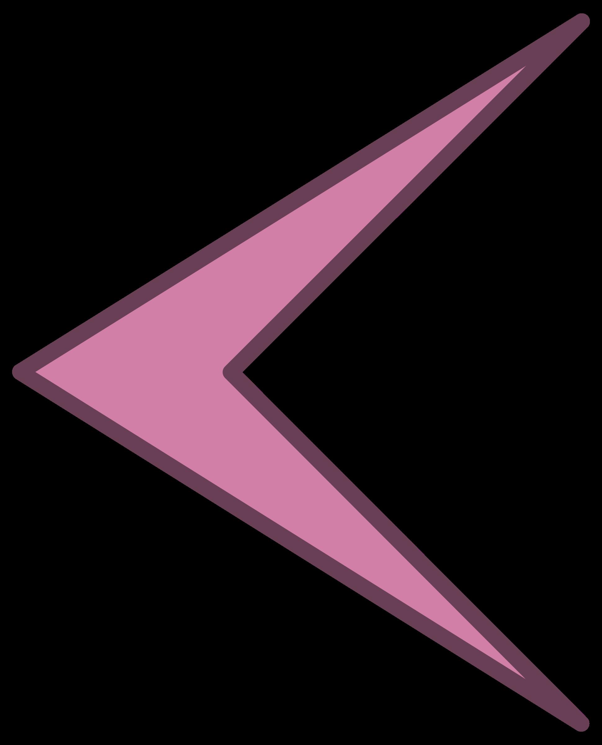 Arki Arrow Left By Jean Victor Balin Purple Arrow Pointing Left On Openclipart Arrow Pointing Left Arrow Point Arrow