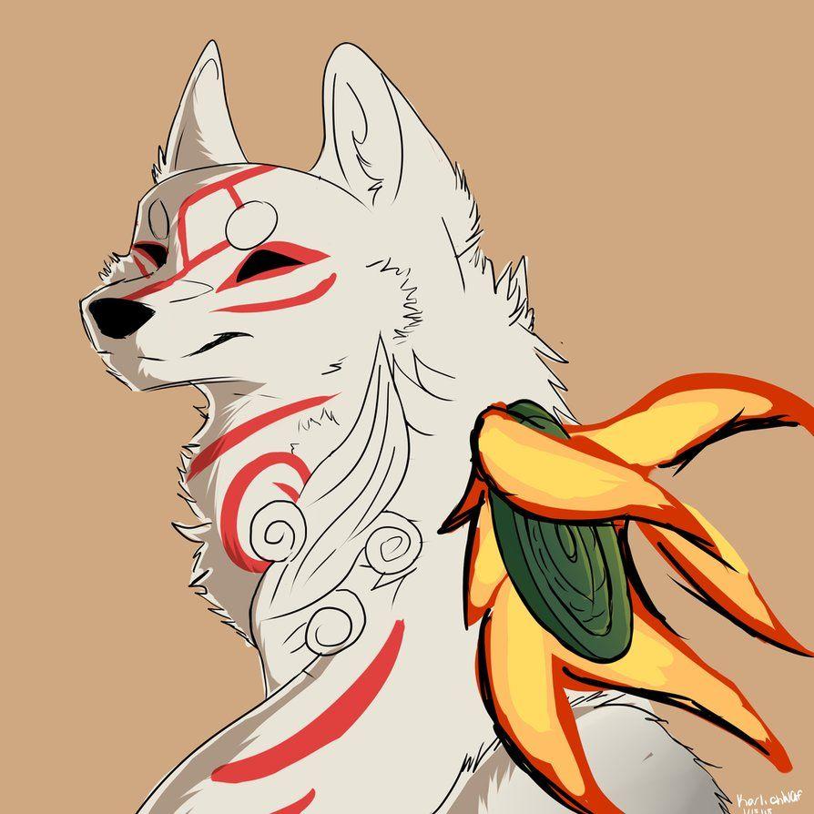 Okami Fanart Do Not Use Without My Okami Amaterasu Wolf Art