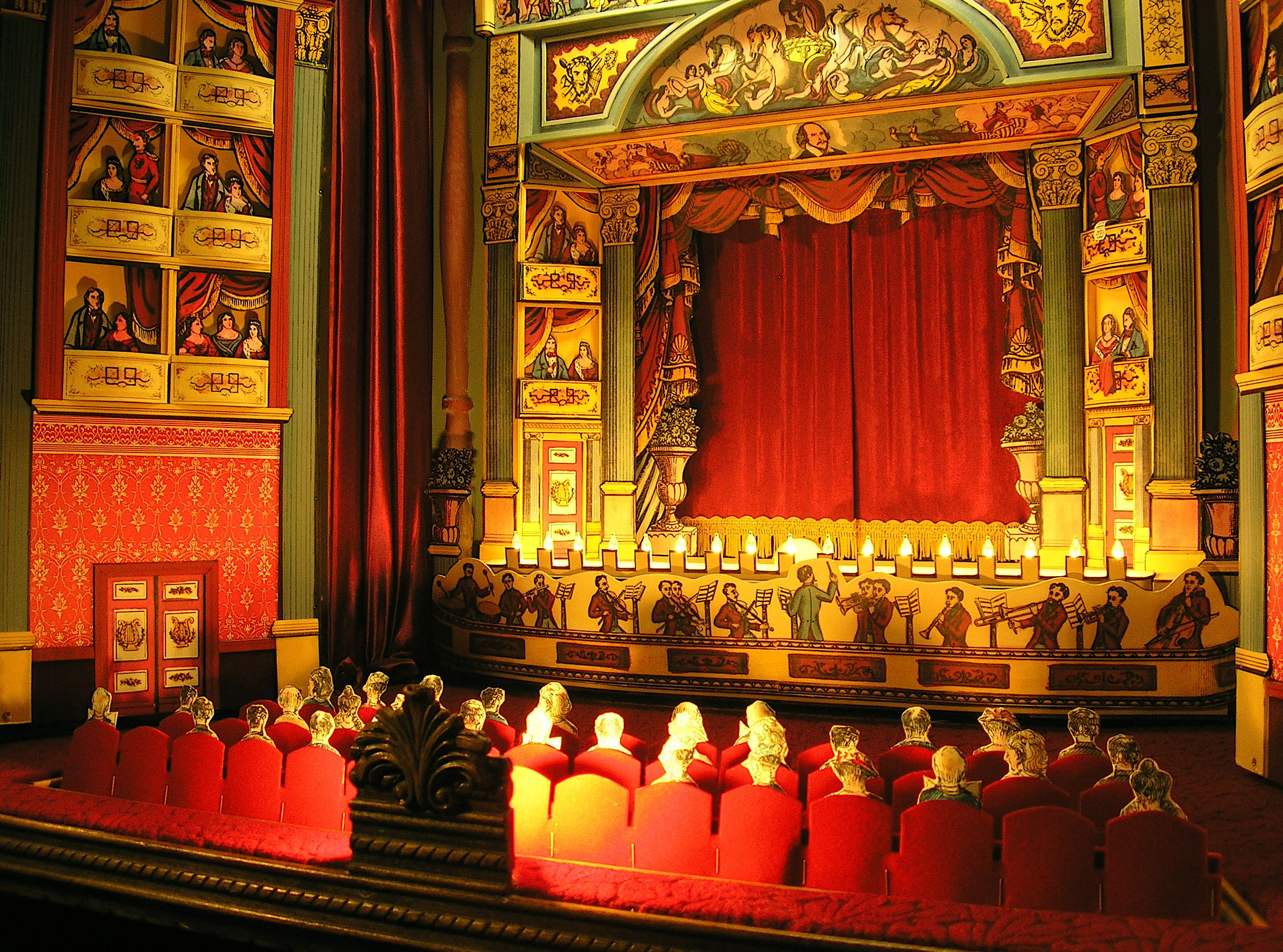 Awesome Toy Theatre Interior Behind The Curtains Is A Complete