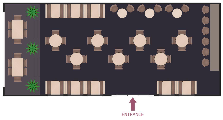 Café Layout Design Pattern di 2020 Desain, Inspirasi