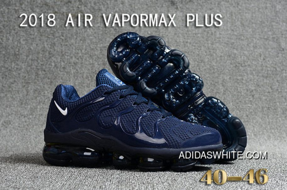 ca77bc01d93 Nike Air VaporMax Plus Mens Navy Blue White Discount in 2019