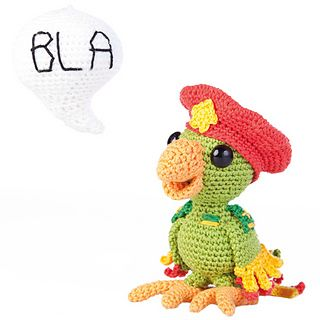 crochet parrot - pattern from book