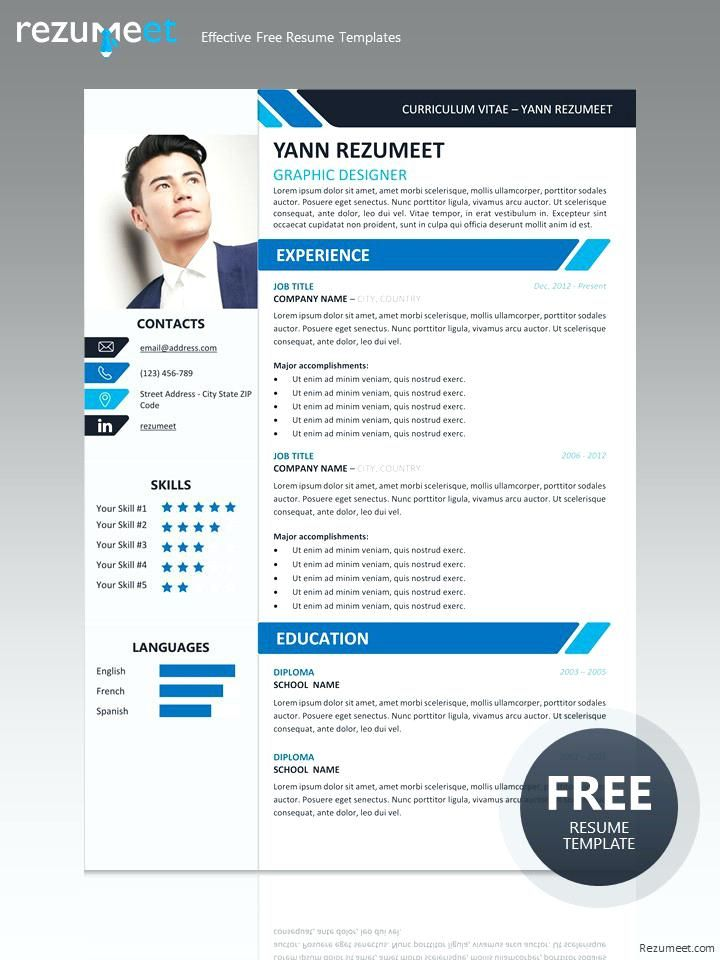 Free professional resume template for ms word docx