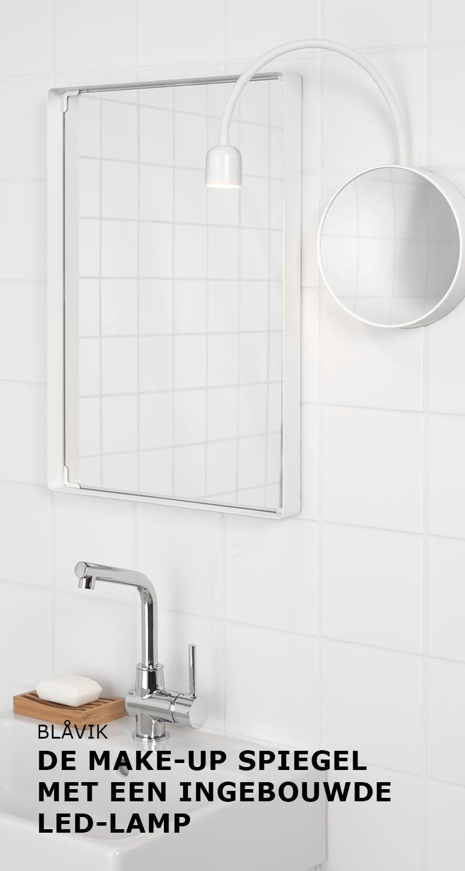 BLÅVIK de make-up spiegel met een ingebouwde LED-lamp | #IKEA ...