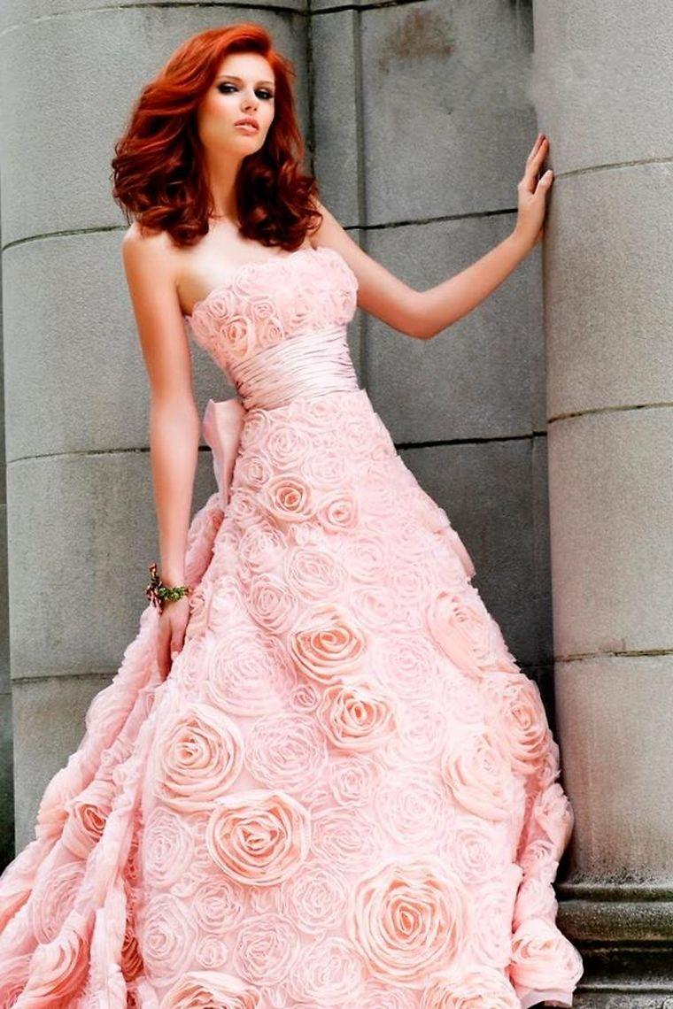 Plus size pink wedding dresses  Elegant Luxurious Plus Size Wedding Dresses Wedding Dresses PFEGS