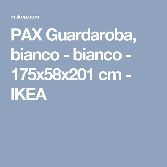 PAX Guardaroba, bianco bianco 175x58x201 cm IKEA