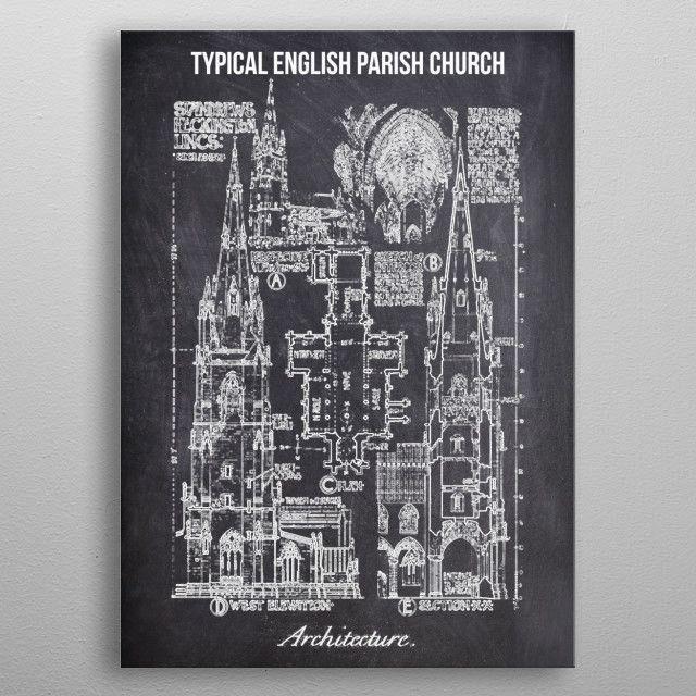typical english parish by FARKI15 DESIGN | metal posters - Displate | Displate thumbnail
