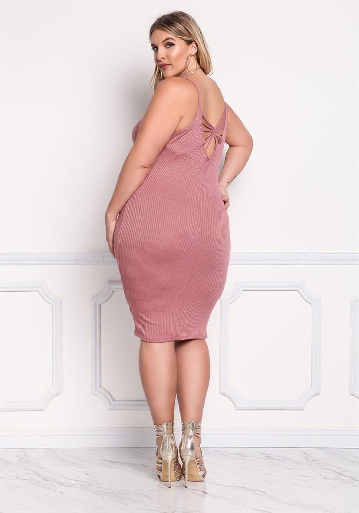 Plus Size Clothing   Plus Size Sparkle Caged Bodycon Dress ...