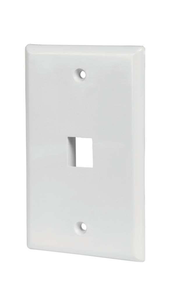 1 Port Wall Plate In White 5 Pack Plates On Wall Keystone Wall Wall