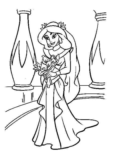 Jasmine Dress Very Beautiful Coloring Pages Wedding Coloring Pages Disney Princess Colors Princess Coloring Pages