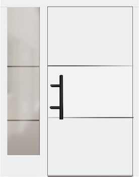 Holz Haustür Modell 70670 Weiß Mit Seitenteil Links Doors