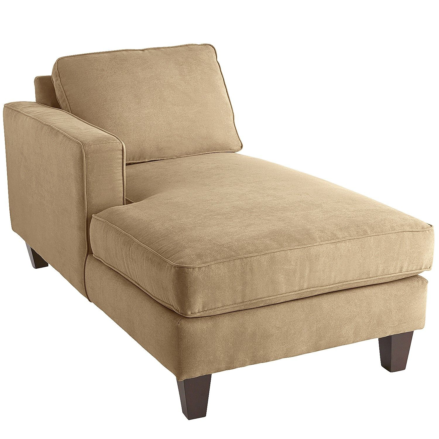 Alton Track Arm Left Facing Chaise Tan Chairs