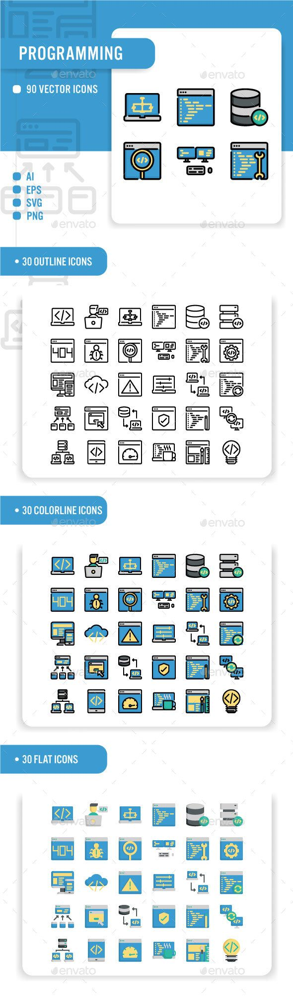 Programming. Fully customisable set of icons. icon