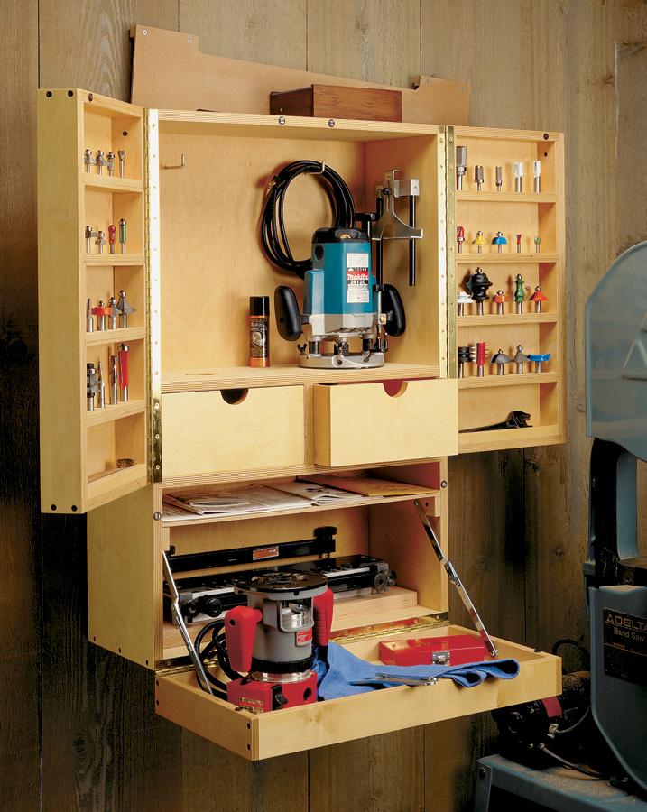 router bit cabinet woodworking project woodsmith plans on top 55 best garage workshop ideas basics of garage workshop ideas explained id=52700