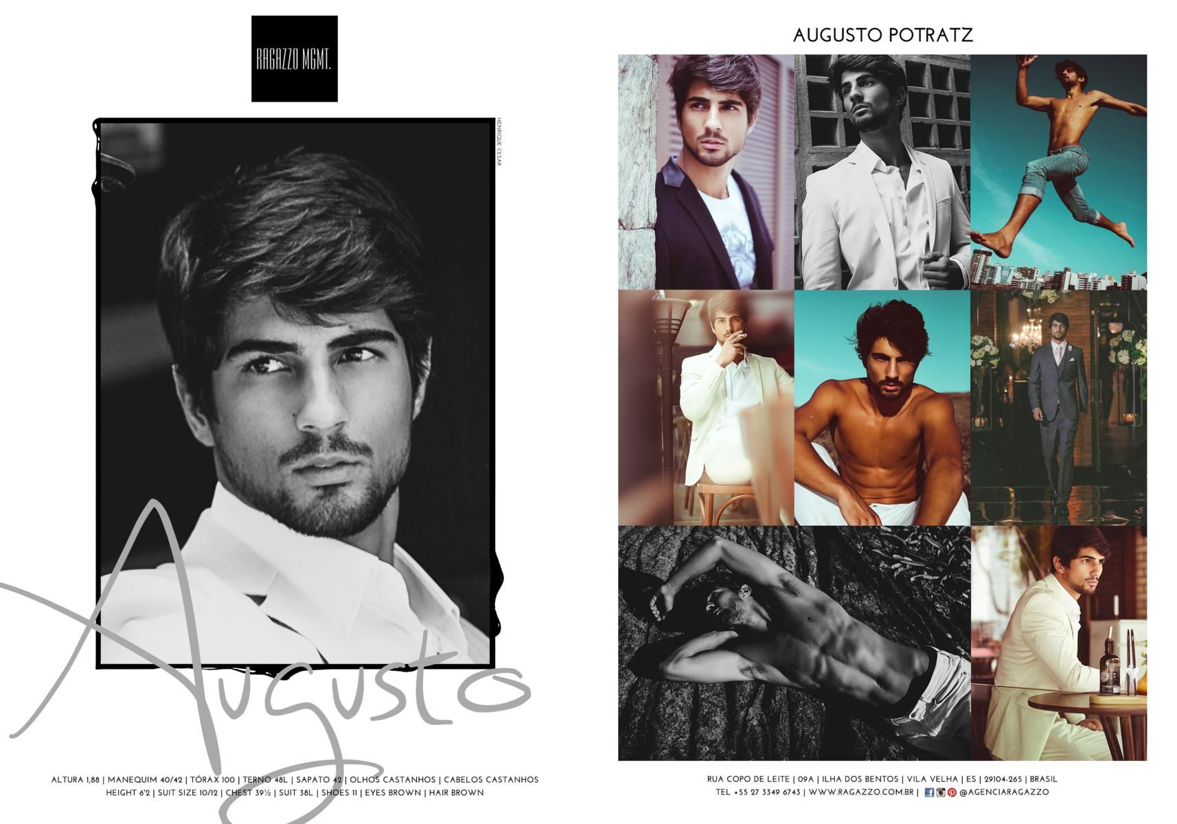AUGUSTO POTRATZ  #ragazzo #fashion #men #model #modelo