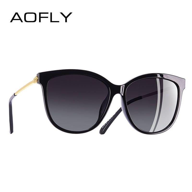 14c63728a AOFLY BRAND DESIGN New Fashion Sunglasses Women Cat Eye Polarized Sun  Glasses Goggles Oculos De Sol UV400 A114
