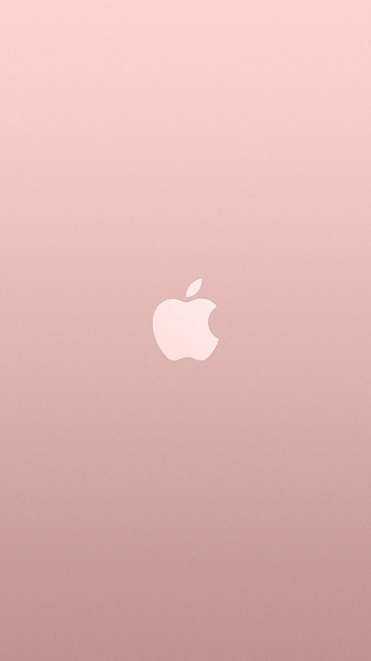 Au15 Logo Apple Pink Rose Gold White Minimal Illustration Art Best Iphone Wallpapers Pink Wallpaper Iphone Rose Wallpaper