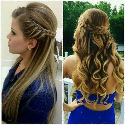 Pin By Michelle On Pricheski Curly Hair Styles Long Hair Styles Braided Hairstyles