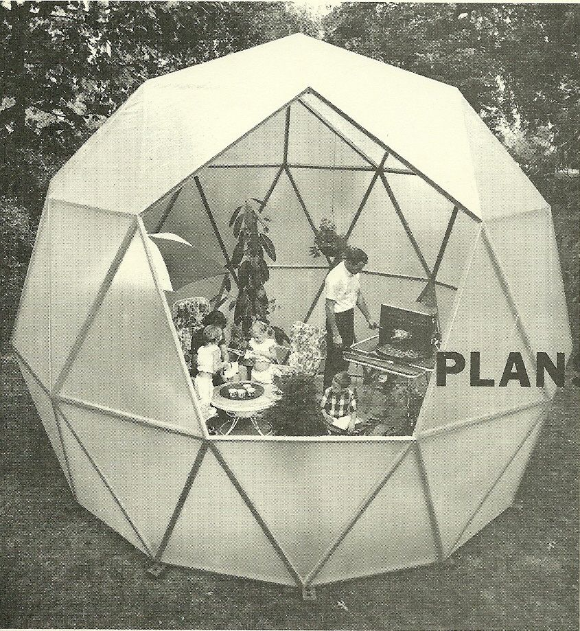 Dome House Futuristic: Charter-Sphere Dome Designed By TC Howard Of Synergetics
