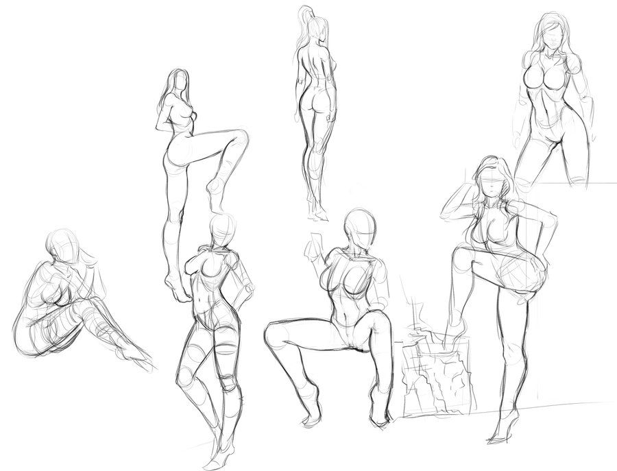 Digital Figure Sketch3 By Zamberz On Deviantart Body Reference Drawing Figure Sketching Drawings