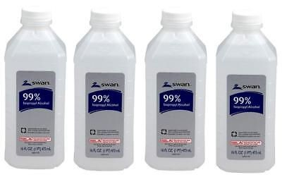 Other First Aid 11779 Swan Isopropyl Alcohol 99 Pint 16 Oz Lot Of 4 BUY IT NOW ONLY 1999 On EBay