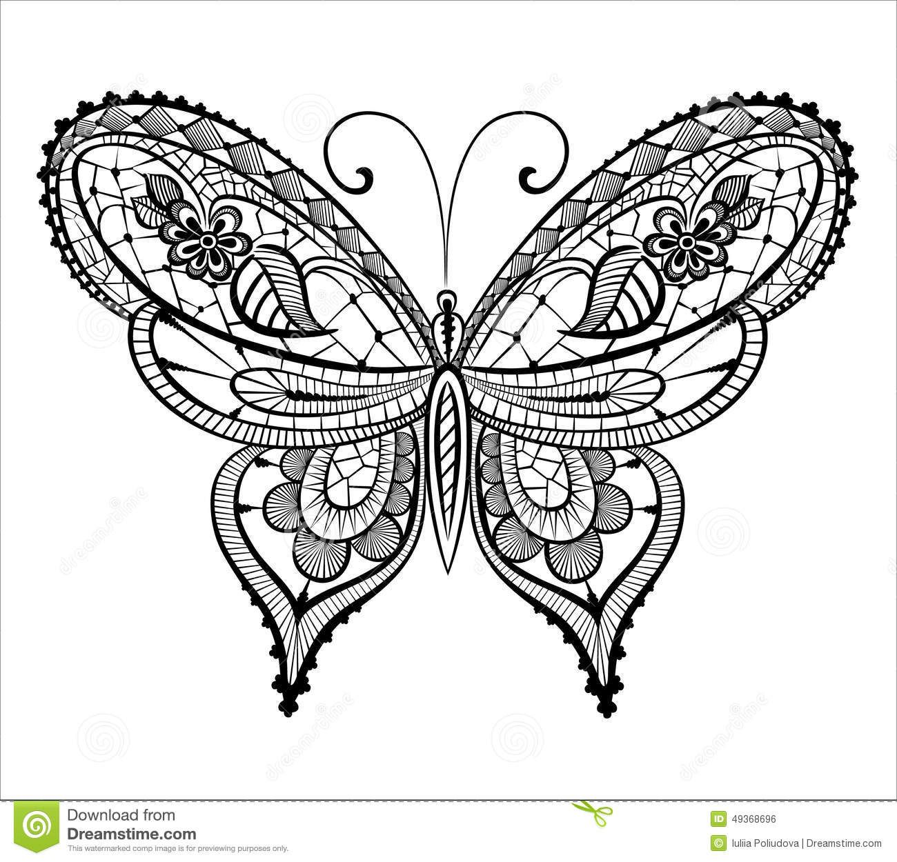 Lacy Abstract Butterfly Stock Illustration Image 49372527 Lace Butterfly Tattoo Butterfly Coloring Page Lace Tattoo Design