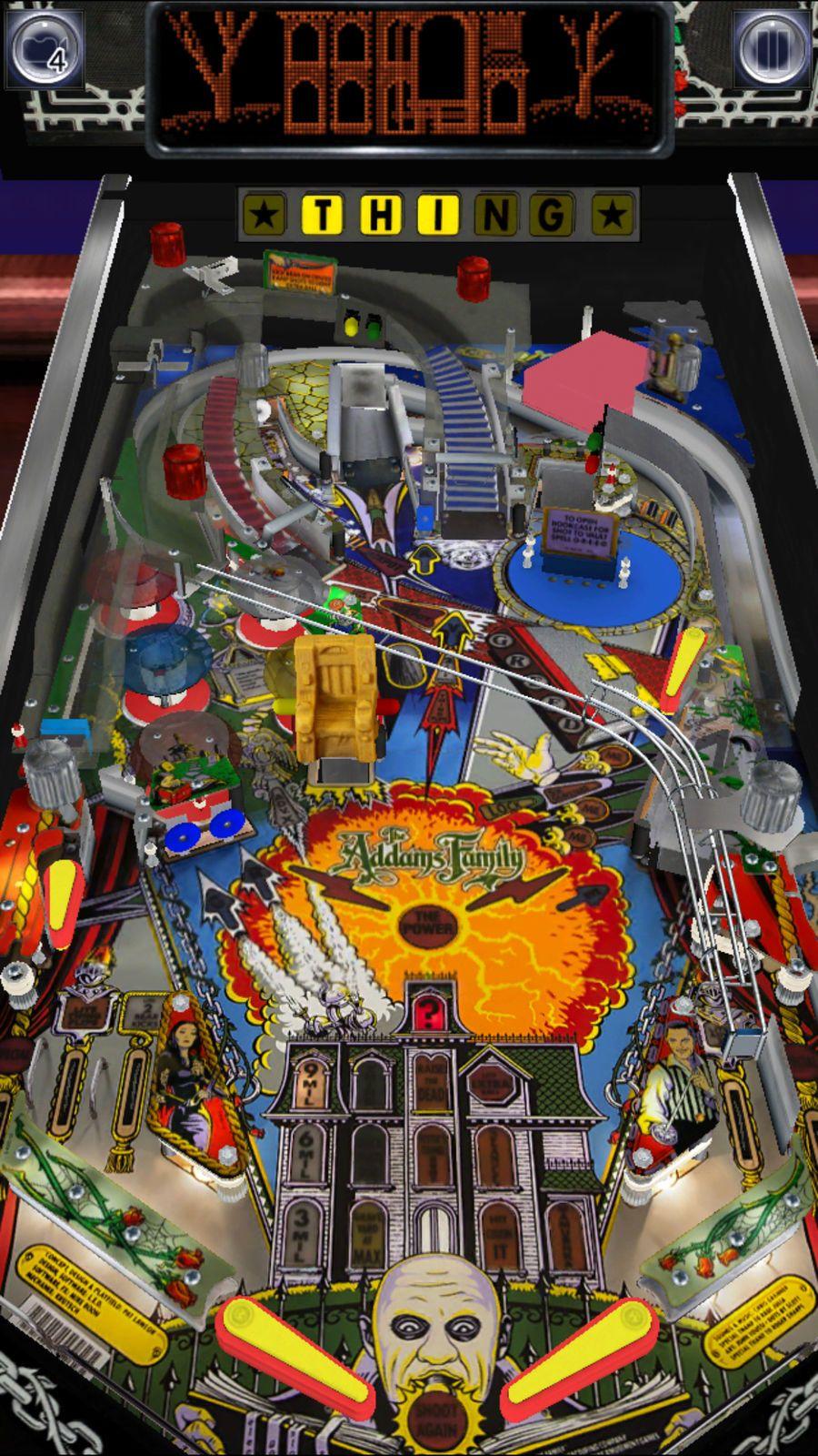 Pinball Arcade Simulation Games Apps Ios Pinball Arcade Addams Family Pinball