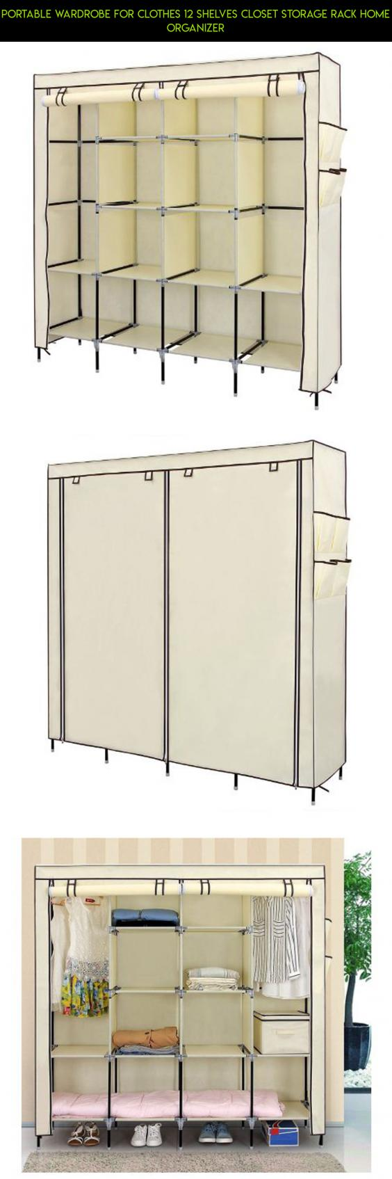 Portable wardrobe for clothes shelves closet storage rack home