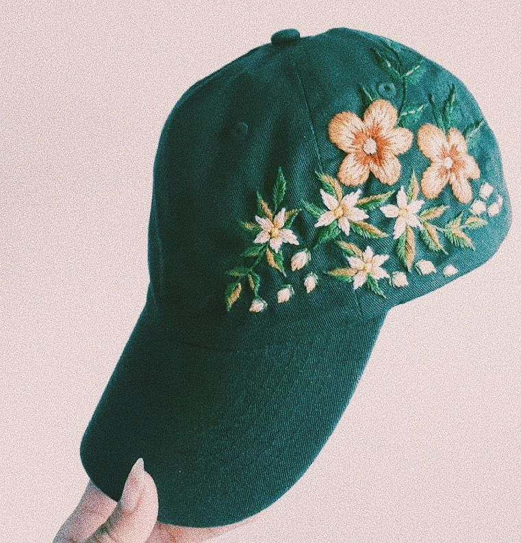 Floral Embroidered Hat Embroidered Hats Embroidered Floral