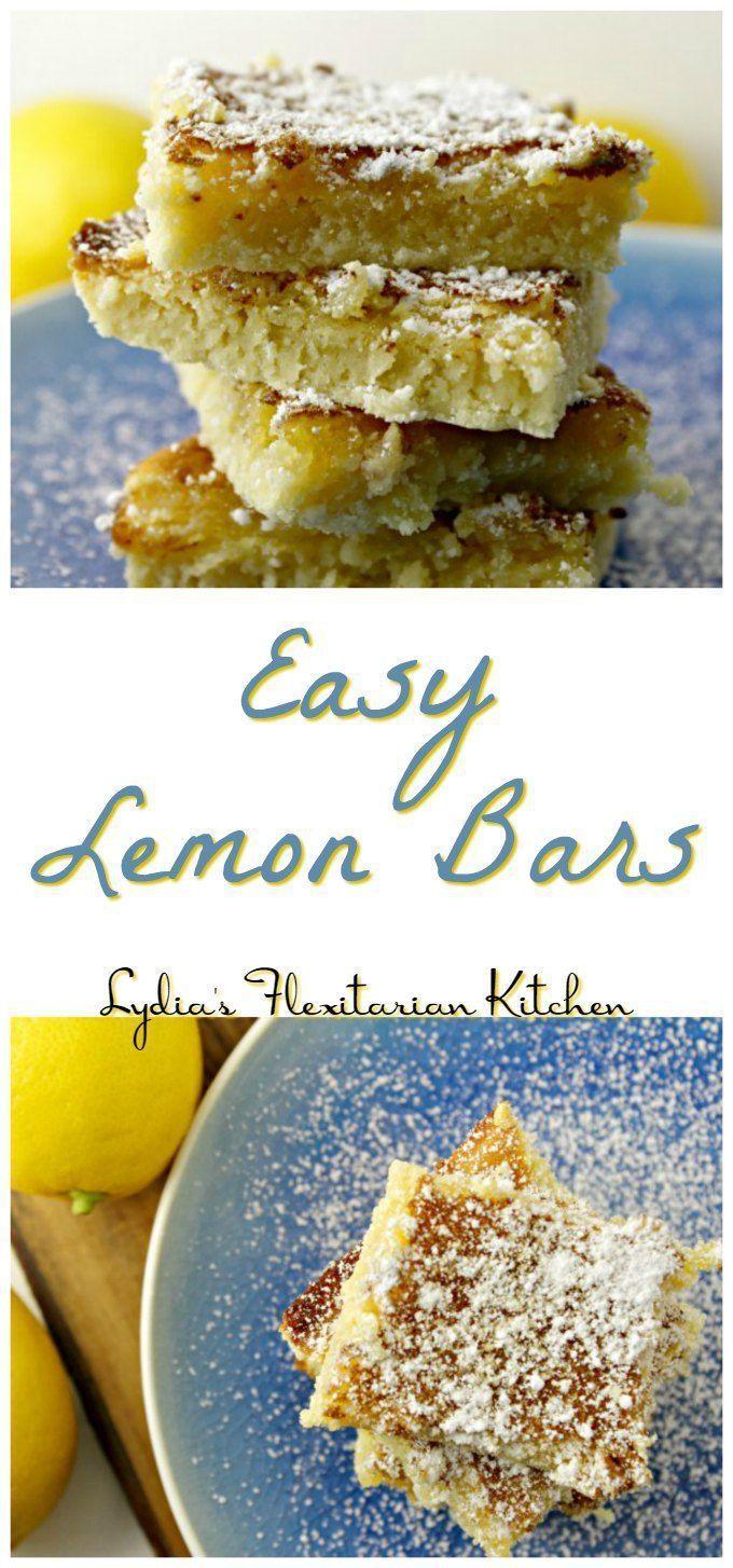 Easy Lemon Bars ~ Lydia's Flexitarian Kitchen