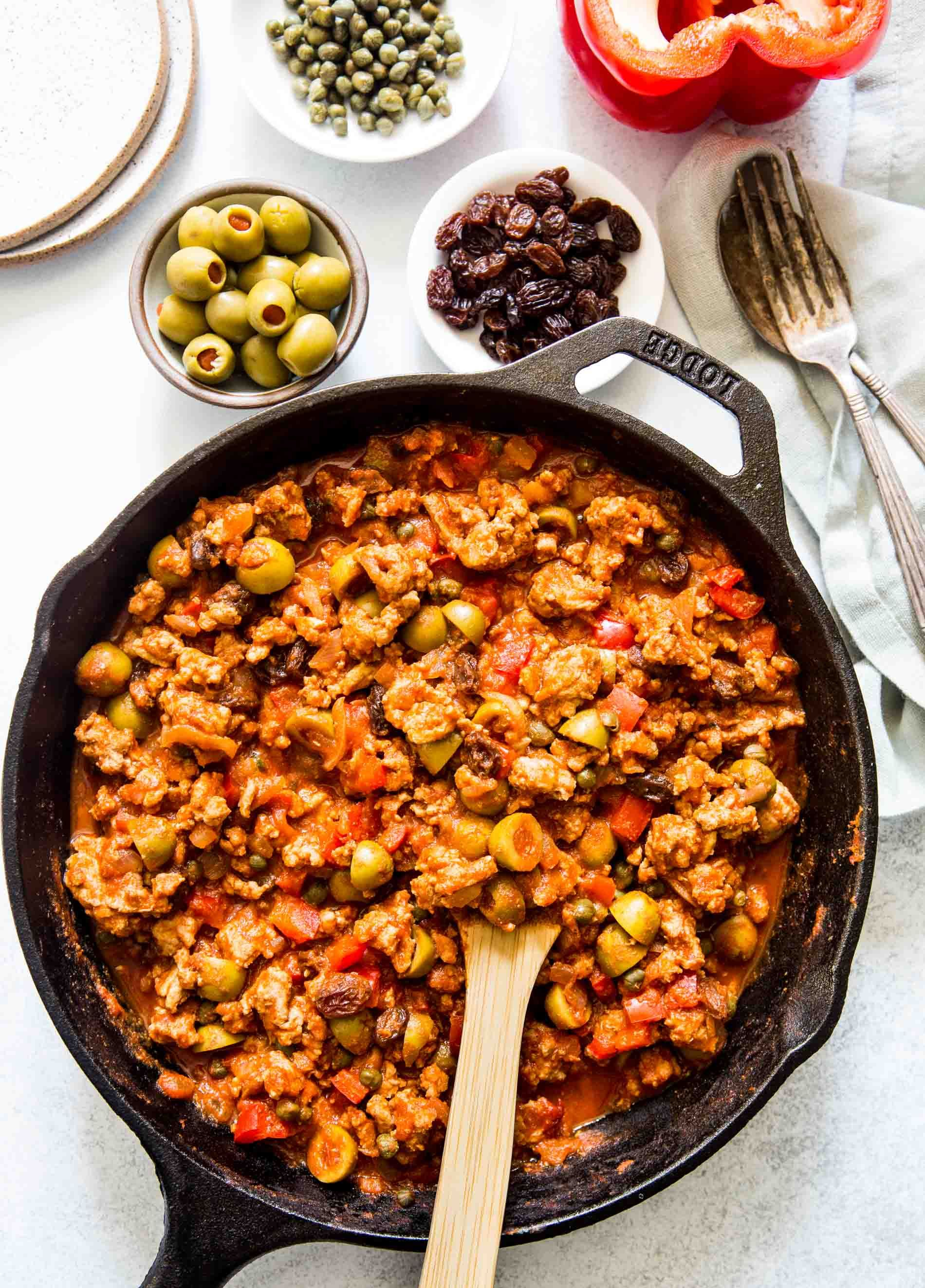 Turkey Picadillo (Table for Two) Picadillo recipe