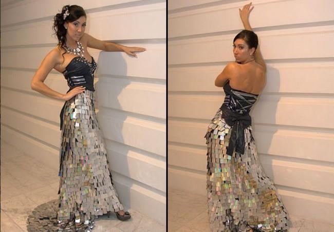 Платье из cd дисков