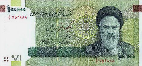 100 000 Rial 10 Toman Iranian